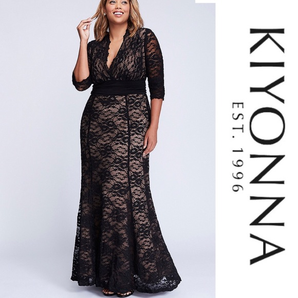 85a6504889a69 Kiyonna Screen Siren Lace Gown. Listing Price   70. Your Offer